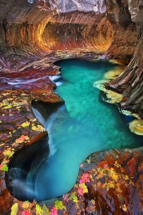 Emerald Pool At Subway, Zion National Park, Utah  Places -4922