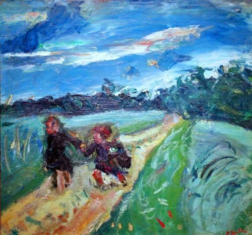Chaim Soutine (BLR/Fr 1893-1943)  Return from School After the Storm, 1939, 43 x 50 cm  Phillips Collection, Washington D.C.