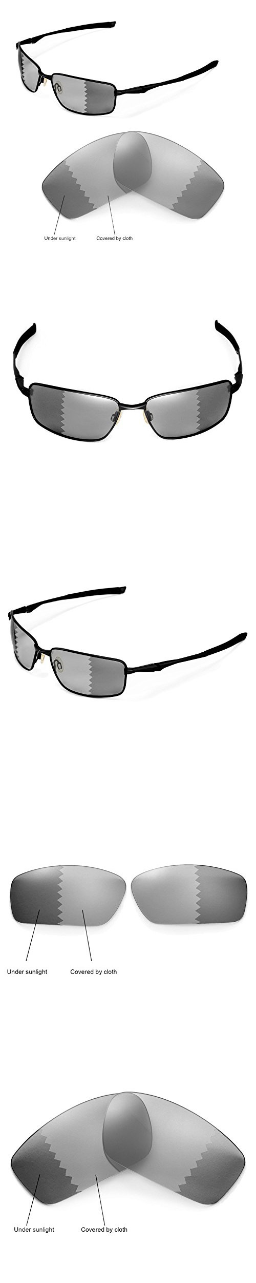 80e406a409e0f Walleva Replacement Lenses for Oakley Splinter Sunglasses - Multiple  Options Available (Transition photochromic -