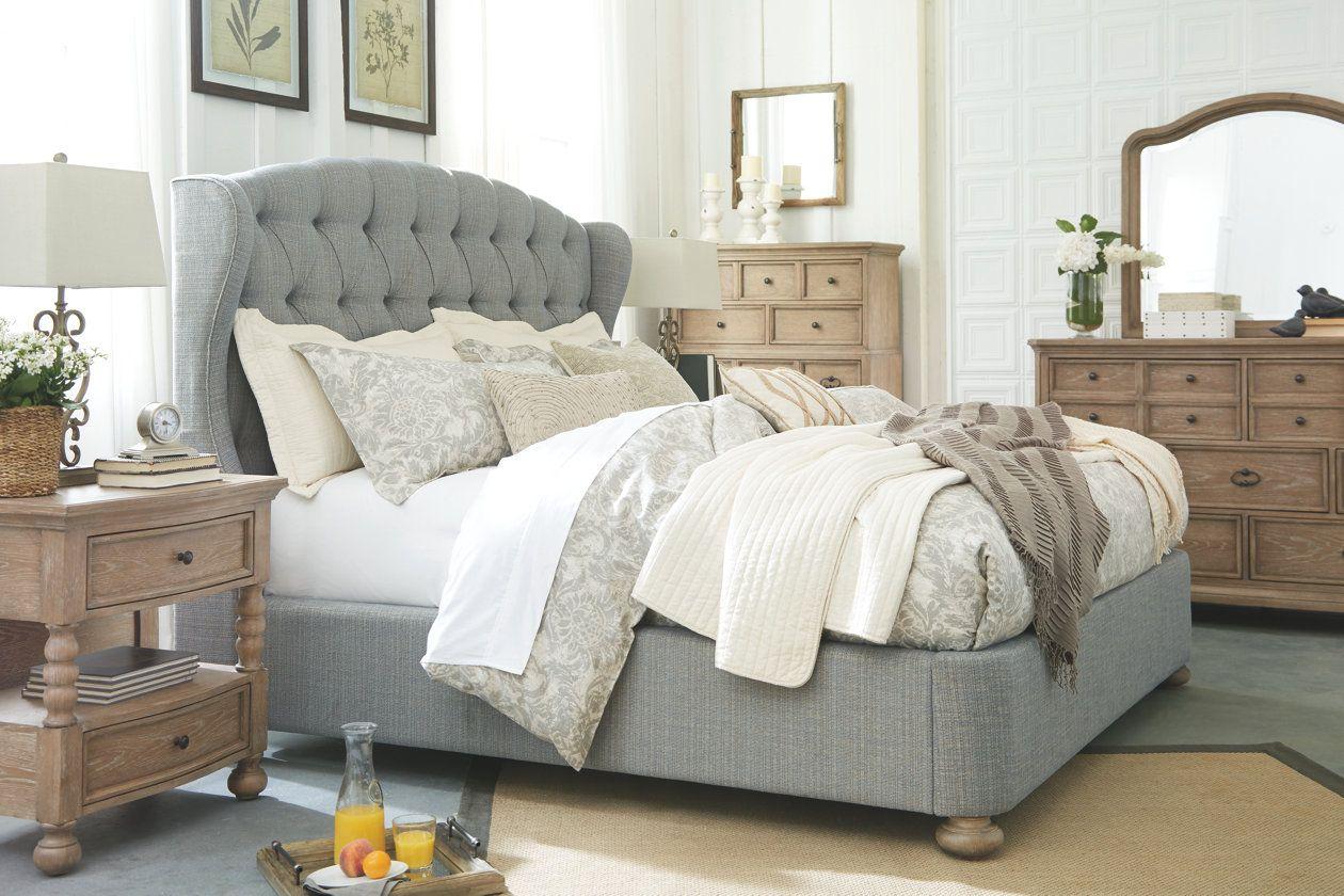 Ollesburg King Upholstered Bed Ashley Furniture Homestore