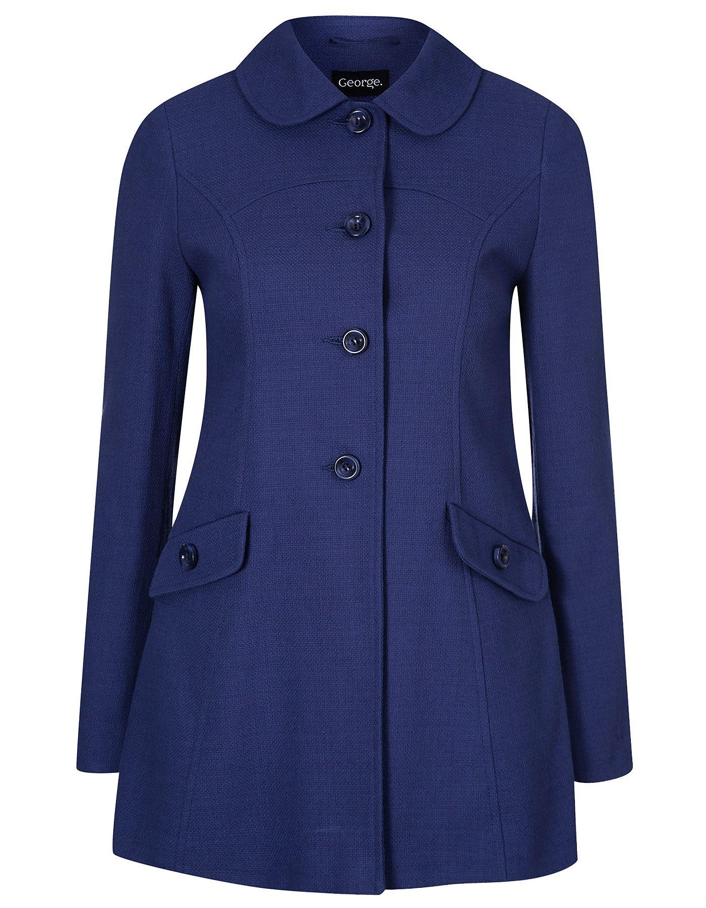 8b6421a128c34 Curved Collar Swing Coat | Women | George at ASDA | Dream Closet ...