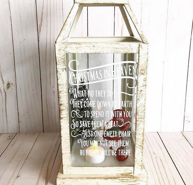 Christmas In Heaven Lantern.Pin By Courtney Berry Buckner On Christmas Gifts Diy