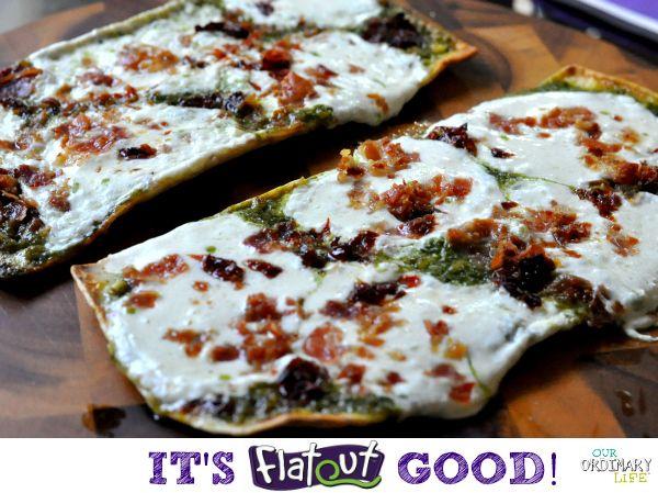 Pancetta, Prosciutto, Sundried Tomato & Pesto Grilled Flatbread Pizza Recipe   Our Ordinary Life
