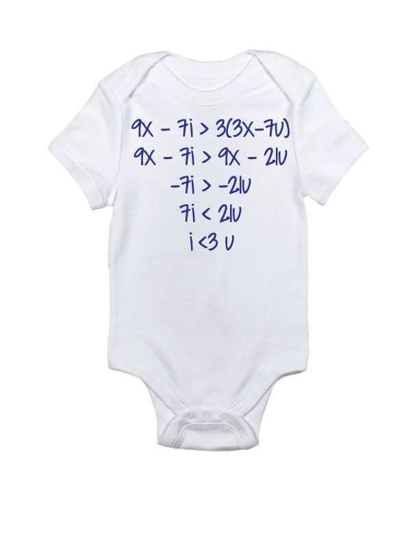 b9d8d4296 math baby onesies | Math Love Onesie New American Apparel by skyhawkpress  on Etsy, $12.00