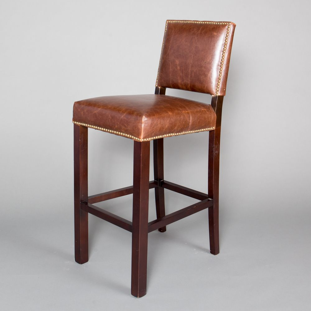 Super Winston Leather Bar Stool Bar Stools Leather Bar Stools Andrewgaddart Wooden Chair Designs For Living Room Andrewgaddartcom