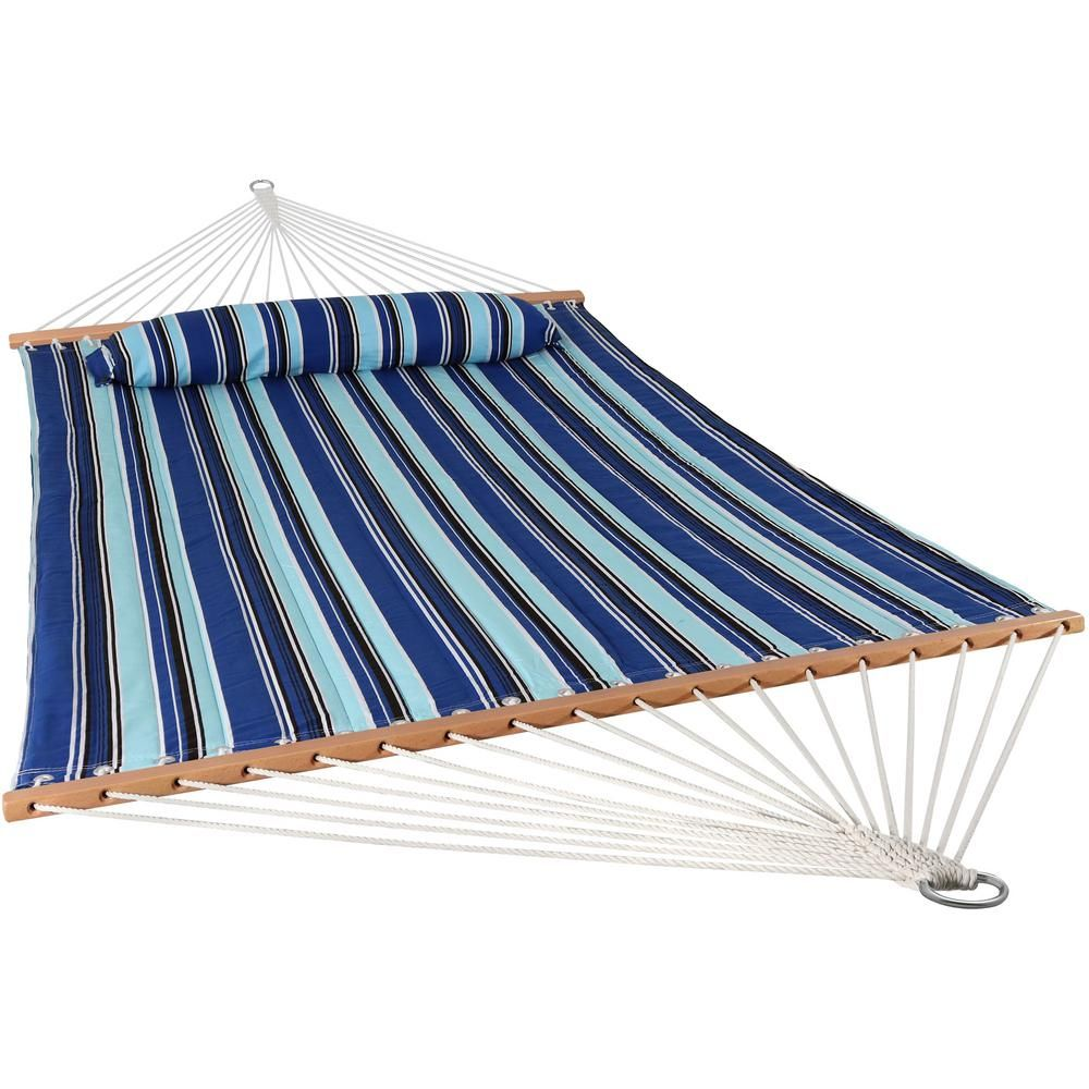 Sunnydaze Decor 11 3 4 Ft Quilted Double Fabric 2 Person Hammock In Catalina Beach Beach Quilt Hammock Double Hammock