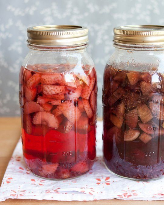 Fruit Infused Vodka, Homemade