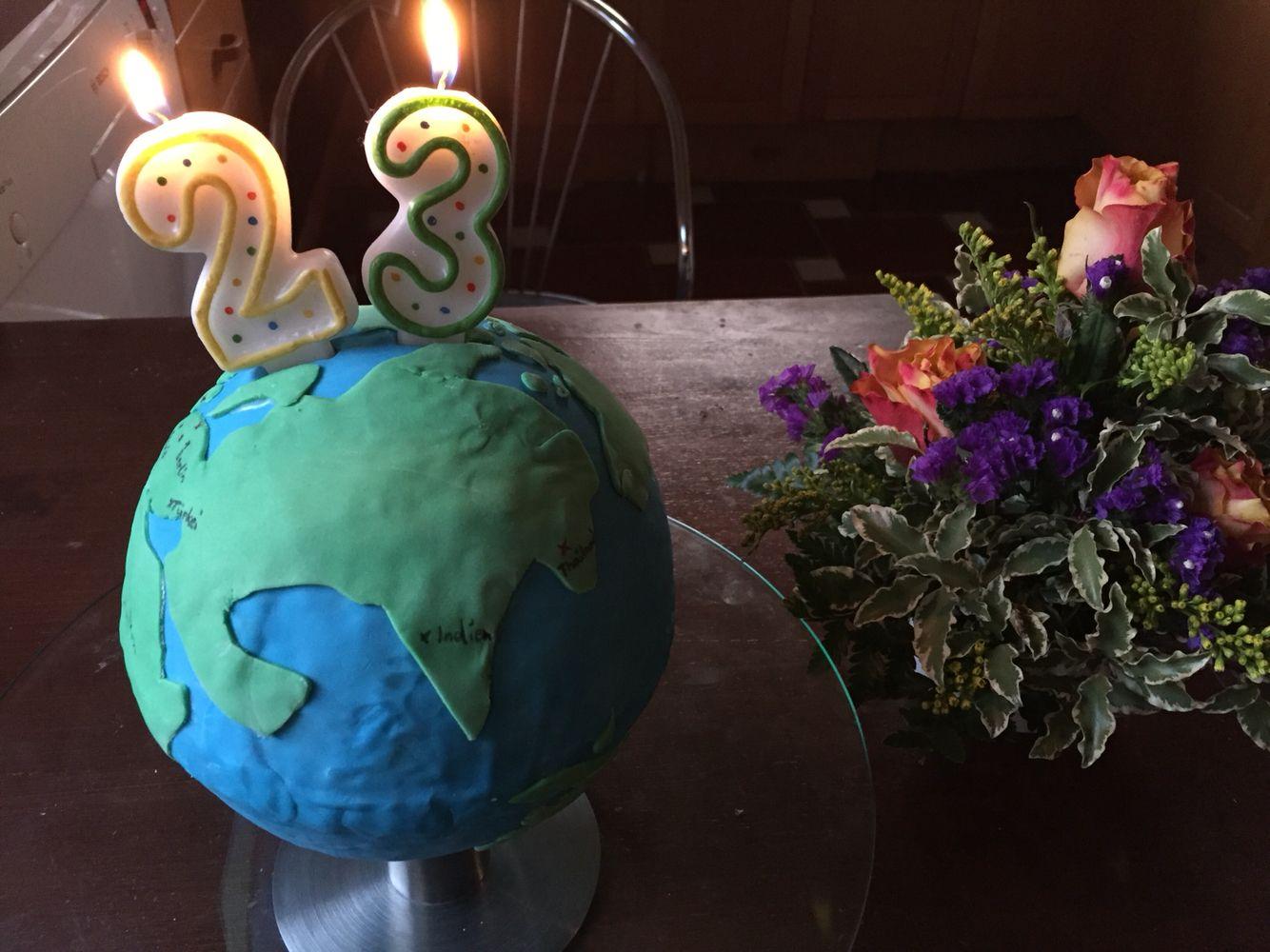 Weltkugel Geburtstagskuchen