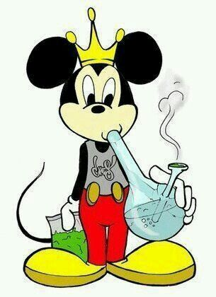 Magnificent Cartoon characters smoking weed