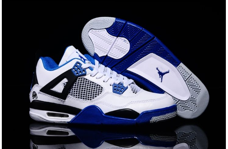 Air Jordan 4 Retro White Black Blue