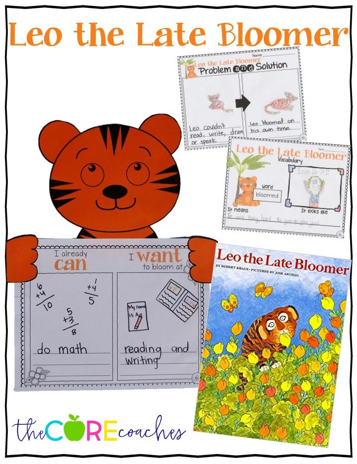 Leo The Late Bloomer Interactive Read Aloud Lesson Plans And