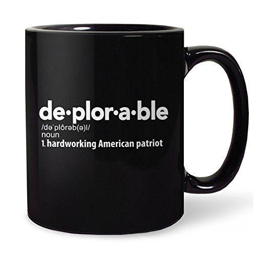 Deplorable Definition Coffee Mug Hardworking American Patriot Mugs Coffee Mugs Glassware