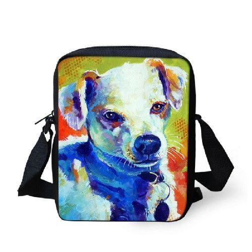 Colorful Mini Shoulder Bags for Leisure Women Men 2016 New Design Zoo Animal Painting Messenger Bags Small Causal Travel Bags