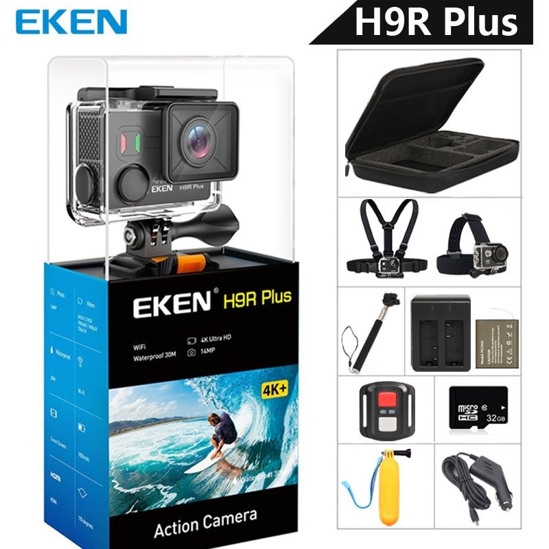 EKEN H9R Plus Action Camera Ultra HD 4K Ambarella A12 4k