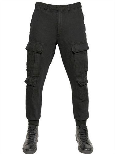 NEIL BARRETT* Vintage Linencotton Men Cargo Trouser