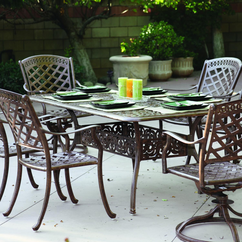 Darlee Sedona 7 Piece Cast Aluminum Patio Dining Set With