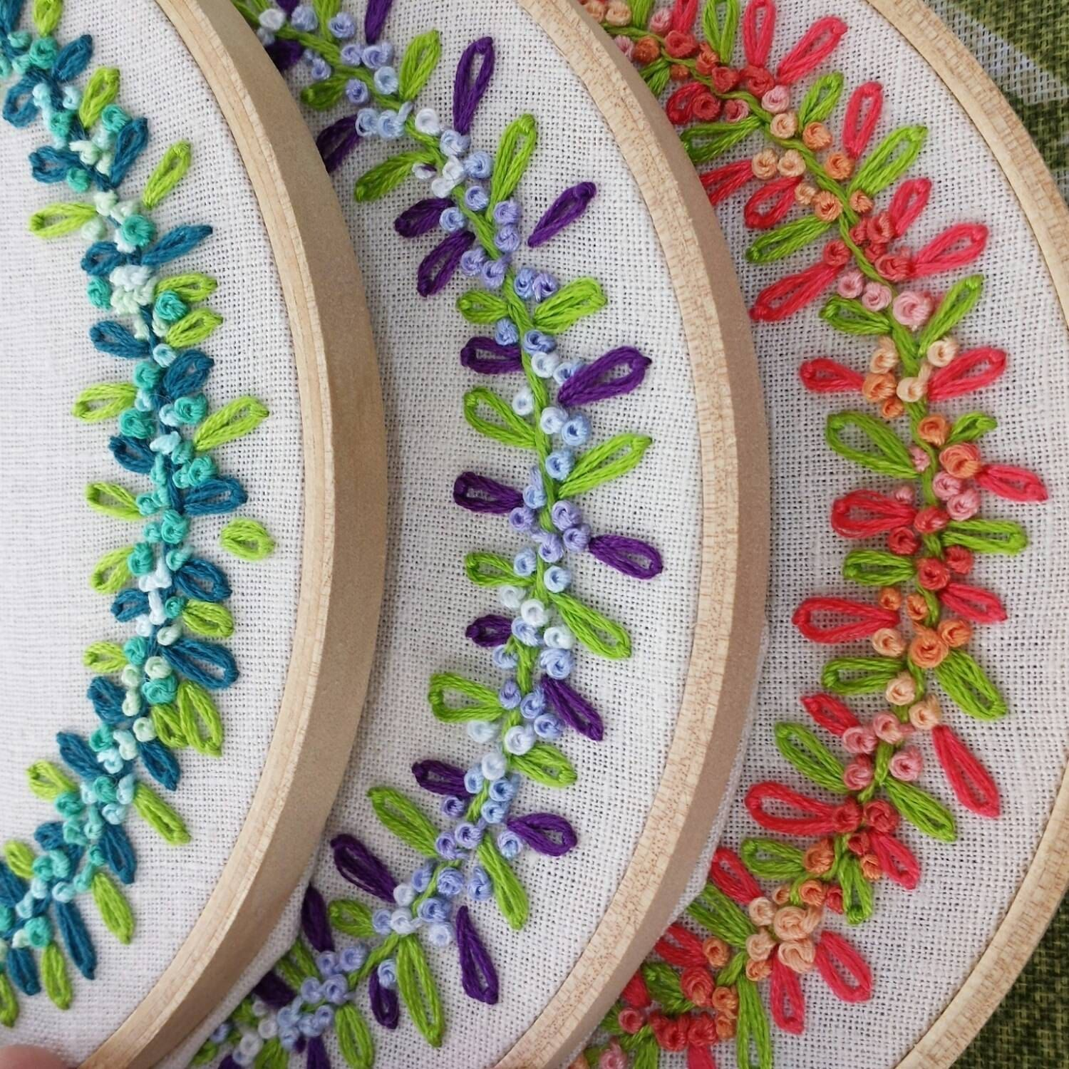 Hand embroidery hoop art name personalized embroidery embroidery