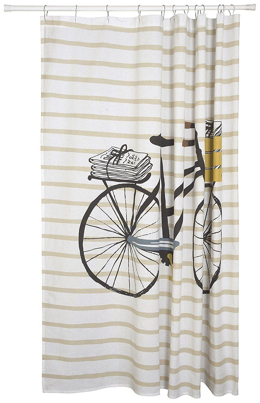 Amazon Danica Studio Cotton Shower Curtain Odyssey Print Home Kitchen
