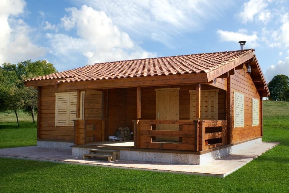Buendia 64 m2 casa de madera arquitectura pinterest - Modelos casa prefabricadas ...