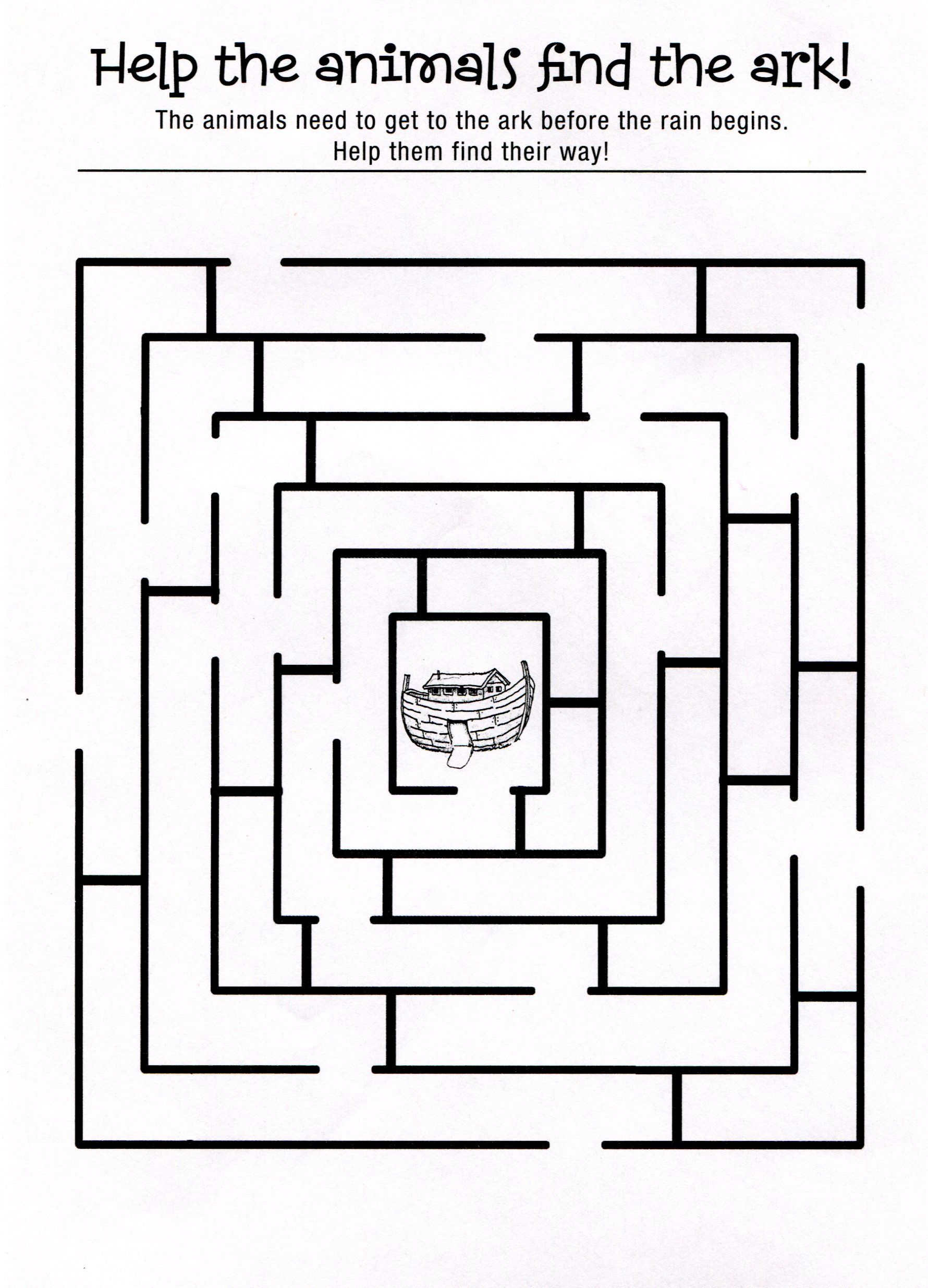 Coloring pages printable noah's ark