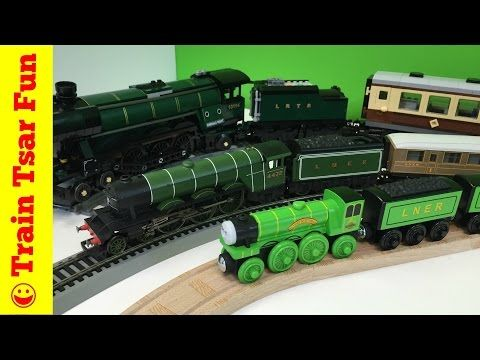FLYING SCOTSMAN Thomas & Friends Wooden Railway with LEGO and Hornby ...