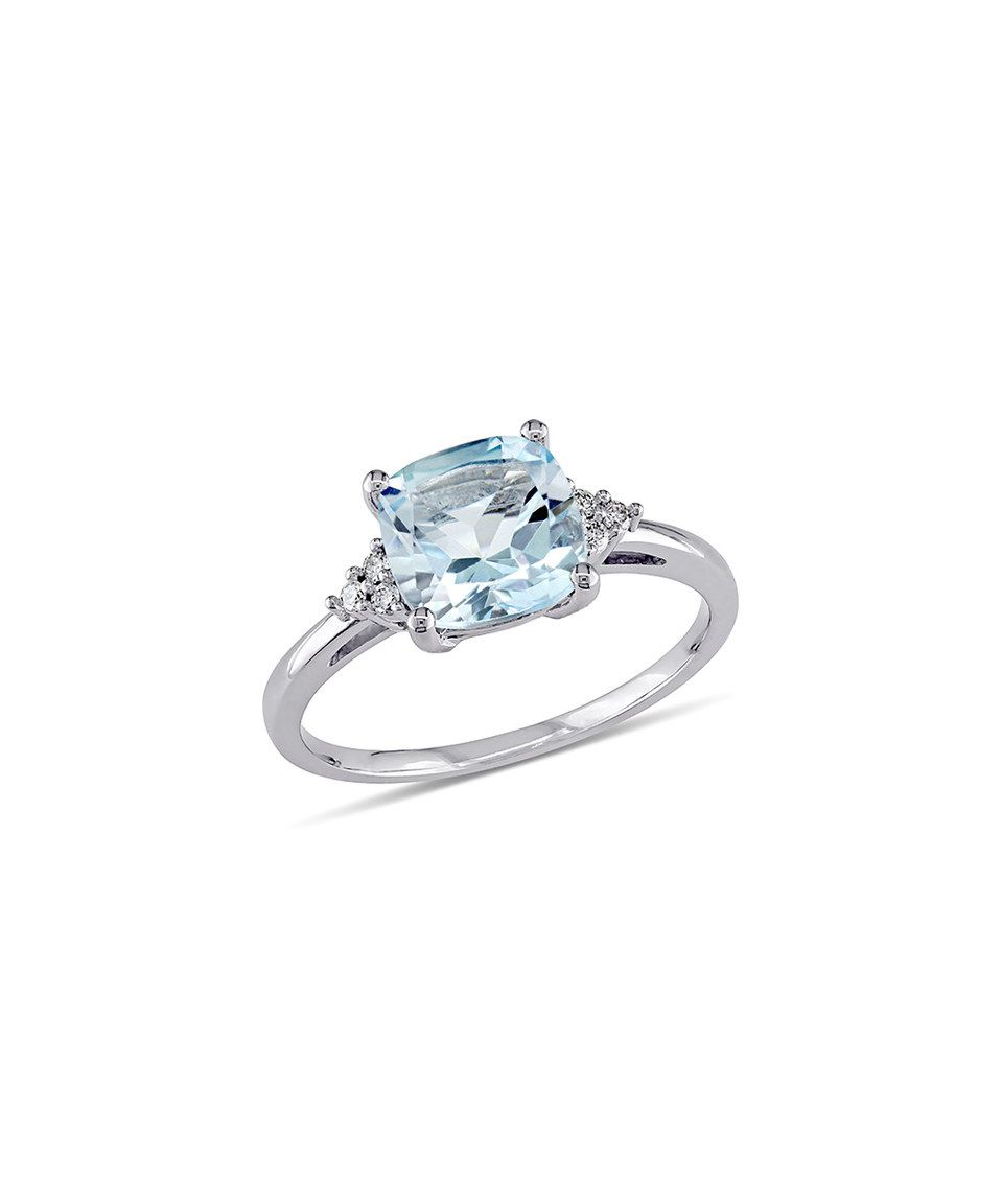 Another great find on #zulily! Sky Blue Topaz & Diamond Cushion-Cut Ring by Delmar #zulilyfinds