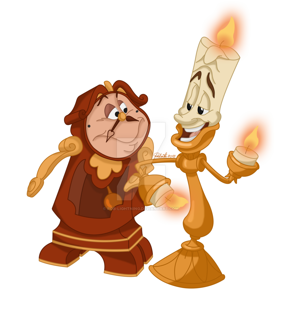 Cogsworth Lumiere Beauty And The Beast 1991 Beauty