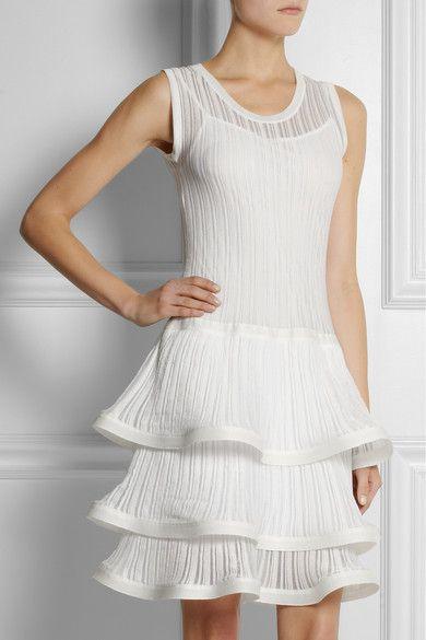 PHILOSOPHYRuffled Ribbed Knit Cotton Dress