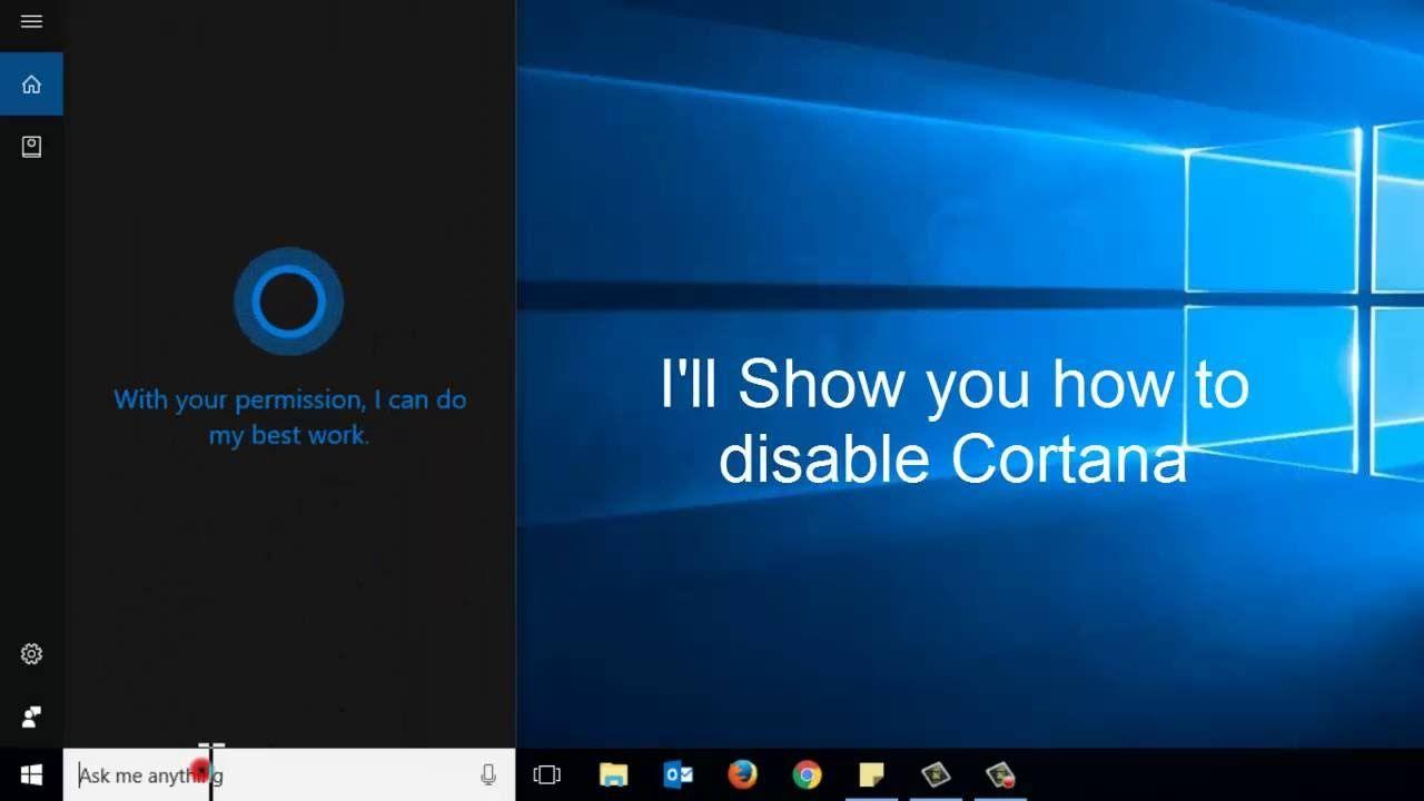 disable cortana in windows 10 gpo