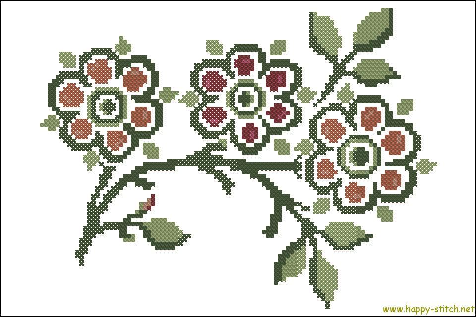 Resultado de imagen de william morris easy patterns stitch | William ...