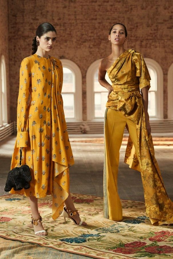 de la Renta Pre-Fall 2019 collection runway looks beauty models and reviews.Oscar de la Renta Pre-F