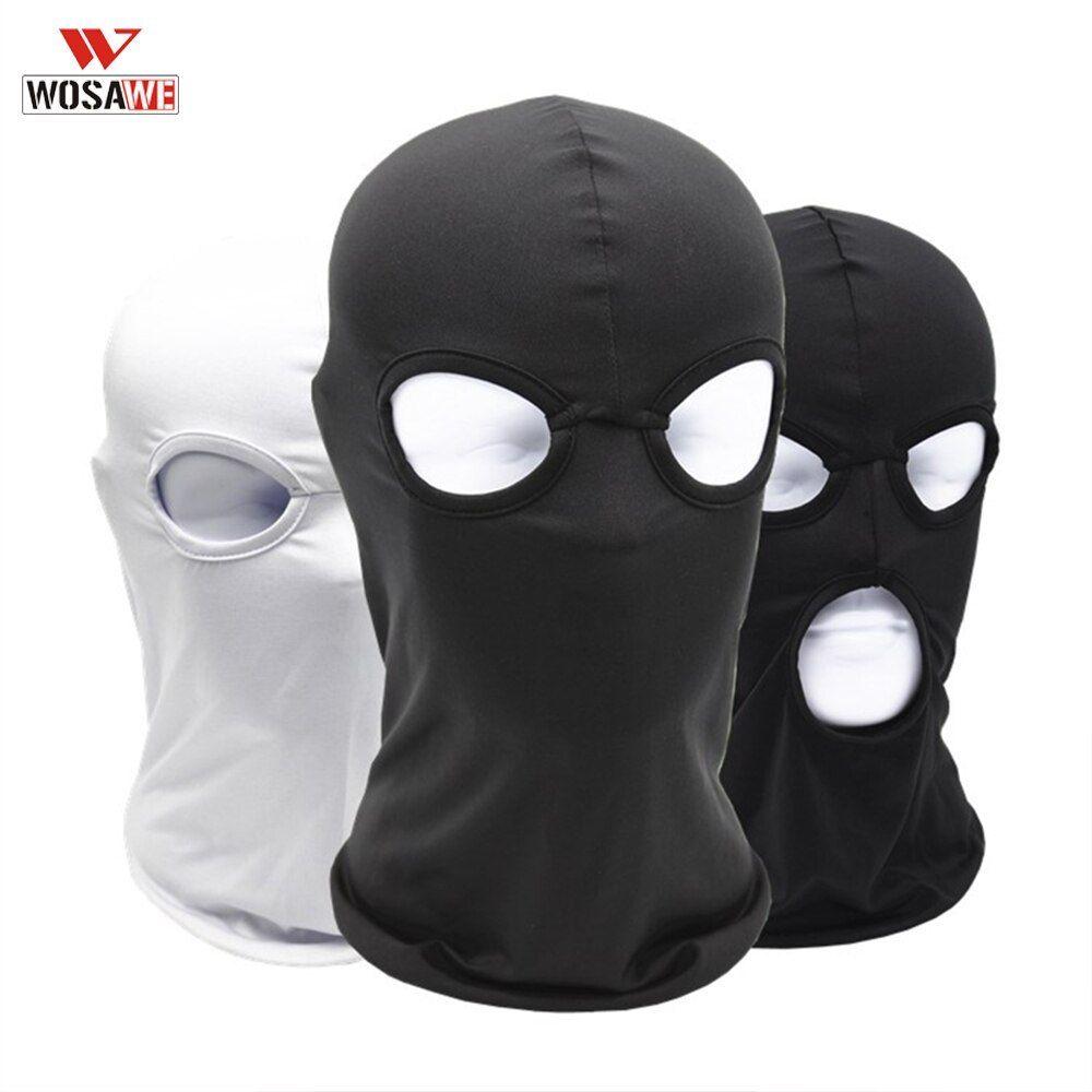 Wosawe Motorcycle Mask Full Face Mask Balaclava Tactical Mask Cagoule Moto 3 Holes 2 Holes Bivakmuts Gangst Motorcycle Mask Motorcycle Face Mask Full Face Mask