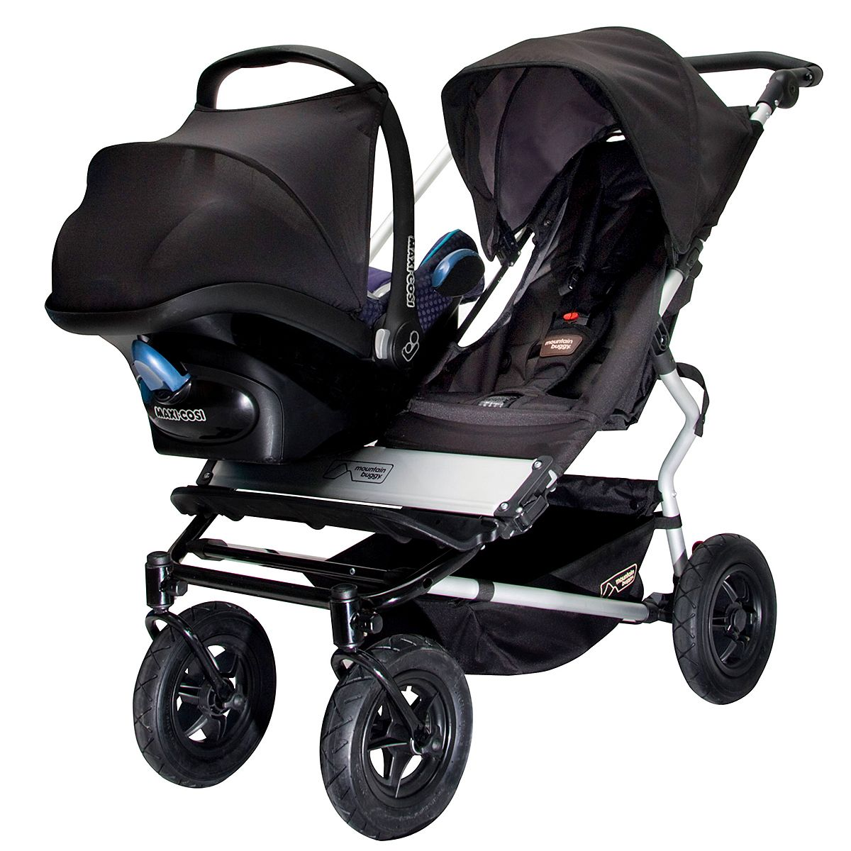 The Duet Side By Double Buggy From Mountain Is Designed For Adaptability And Can Take A Car Seat Capsule Ideal Two Children