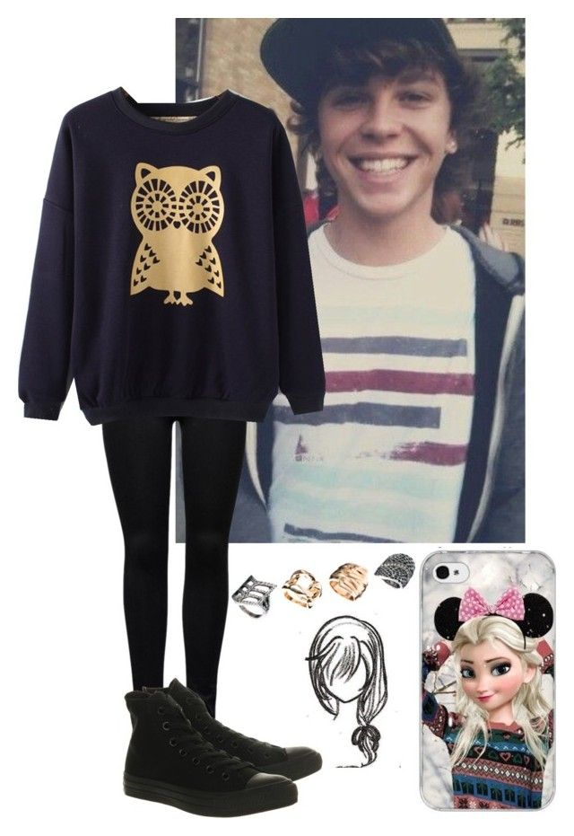 """Day with Keaton"" by daniireiis ❤ liked on Polyvore featuring ONLY, Converse, New Look, imback and keatonstromberg"