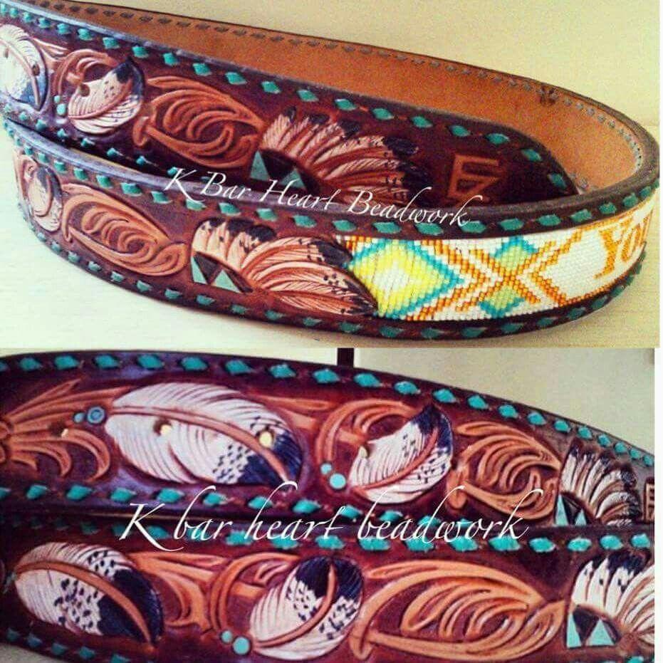 Hand Made Leather Spur StrapsR Bar K