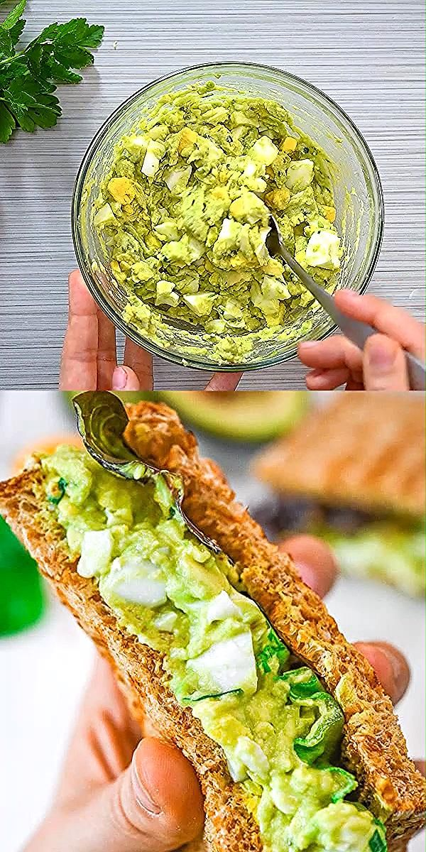 This Avocado Egg Salad is creamy, delicious, and easy to make. You'll love this healthy and flavo