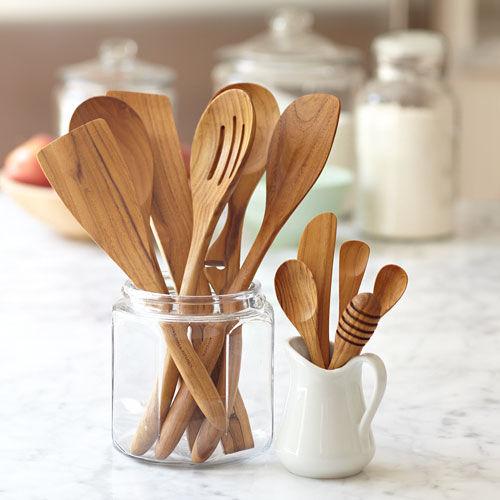 kitchen accessories Teak Wood Utensils - Stonewall Kitchen