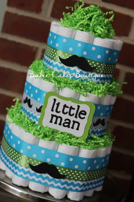 Ready To Ship 3 Tier Little Man Mustache By Babeecakesboutique