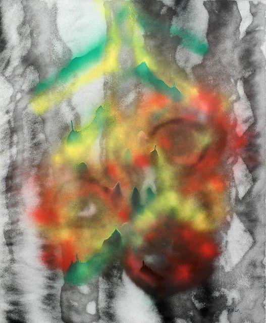 Sidney Nolan   Abstract Spray Paint 1 (ca  1985   Art