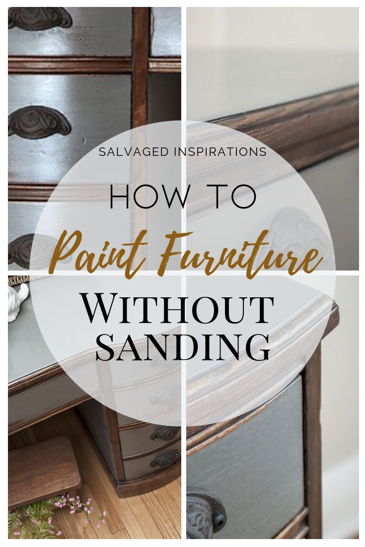how to paint over stained wood without sanding