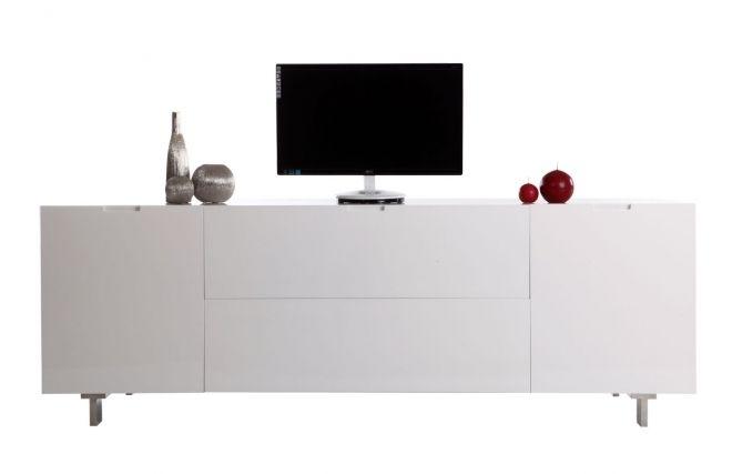 Meuble Tv Design Buffet Laque Blanc Hamilton Meuble Tv Design Meuble Tv Et Buffet Laque