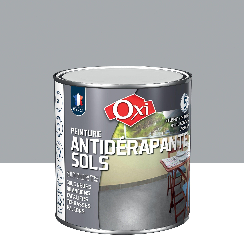 Peinture Sol Exterieur Interieur Antiderapante Oxytol Gris 0 5 L Peinture Sol Sol Gris Et Sol Exterieur