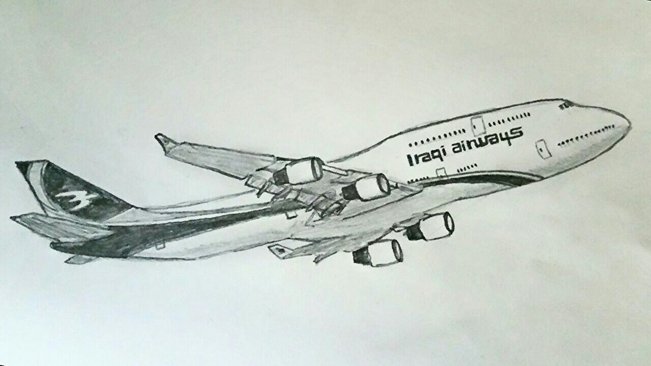 B747 Iraqi airways | my drawing | Drawings