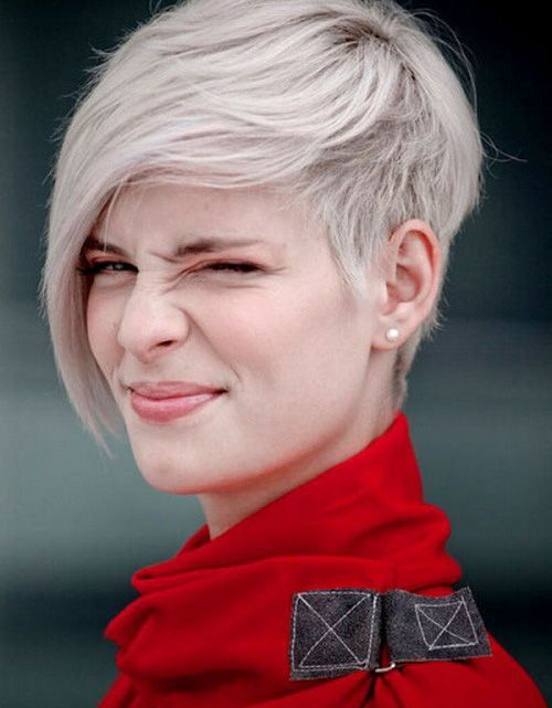 short straight pixie hairstyle