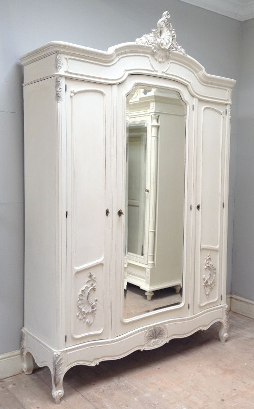 French Antique Triple Door Armoire. Would LOVE To Have One Of These!