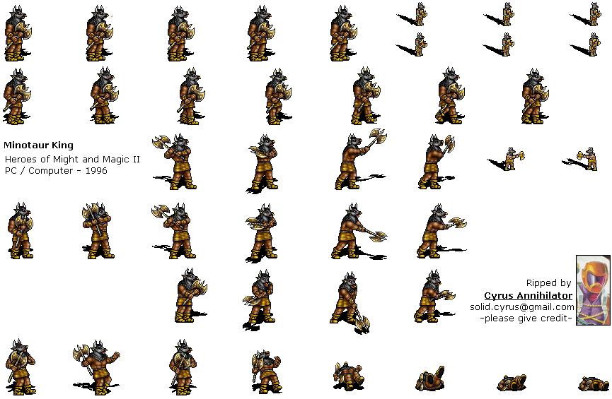 Sprite Database Minotaur King Sprite Database Sprite Rune Knight