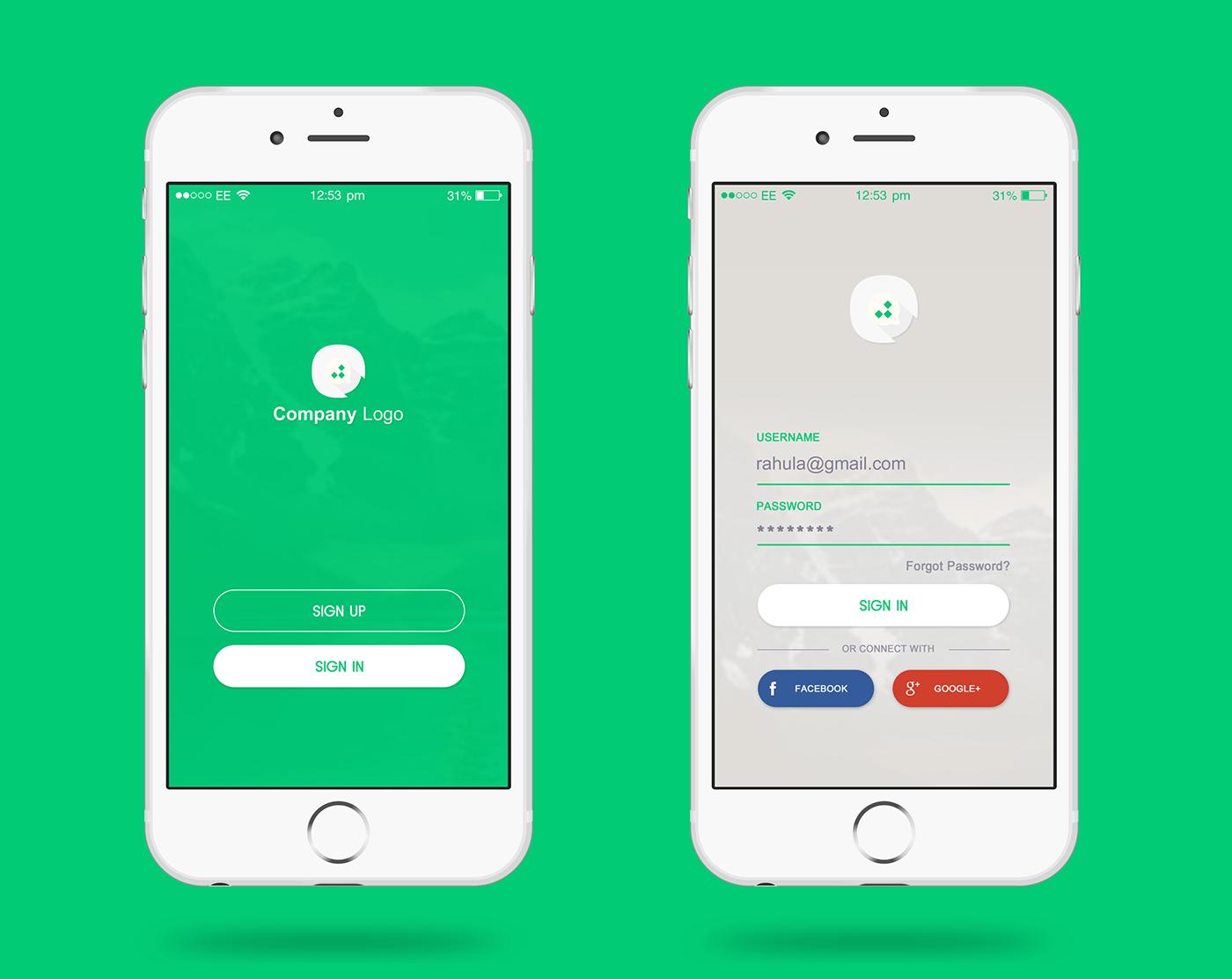 Login Page Design Login page design, App design