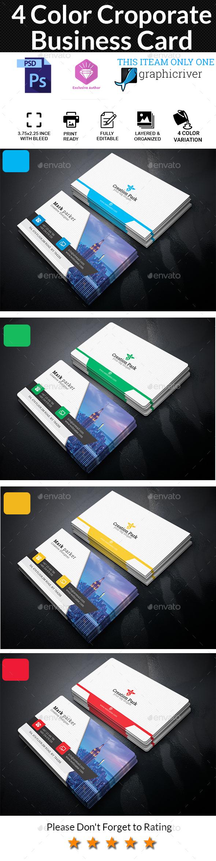 4 Color Corporate Business Card - Corporate Business Cards ...