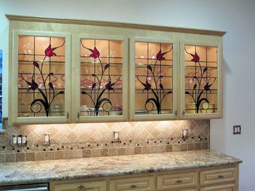 Stained Glass Cabinet Inserts Hawkings Residence Traditional Kitchen Other Me Stained Glass Cabinets Glass Kitchen Cabinet Doors Glass Kitchen Cabinets