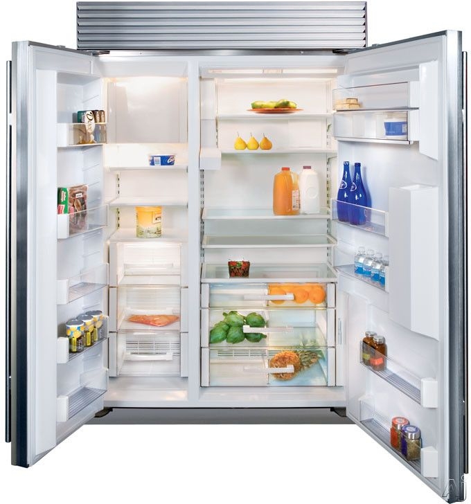 Door Water Ice Sub Zero Bi48sdsth 48 Inch Built In Side By Refrigerator